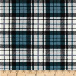Rayon Spandex Jersey Knit Plaid Green/Black/White
