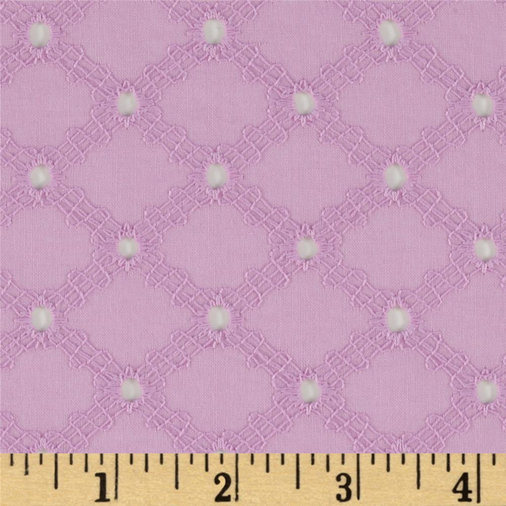 Michael Miller Lattice Cotton Eyelet Peony