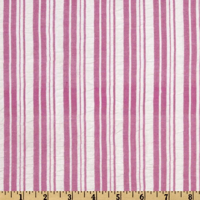 Seersucker Medium Stripe Pink