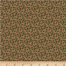 Landon Creek Buds Allover Red Fabric