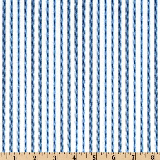 Ticking Stripe Blue/Ivory