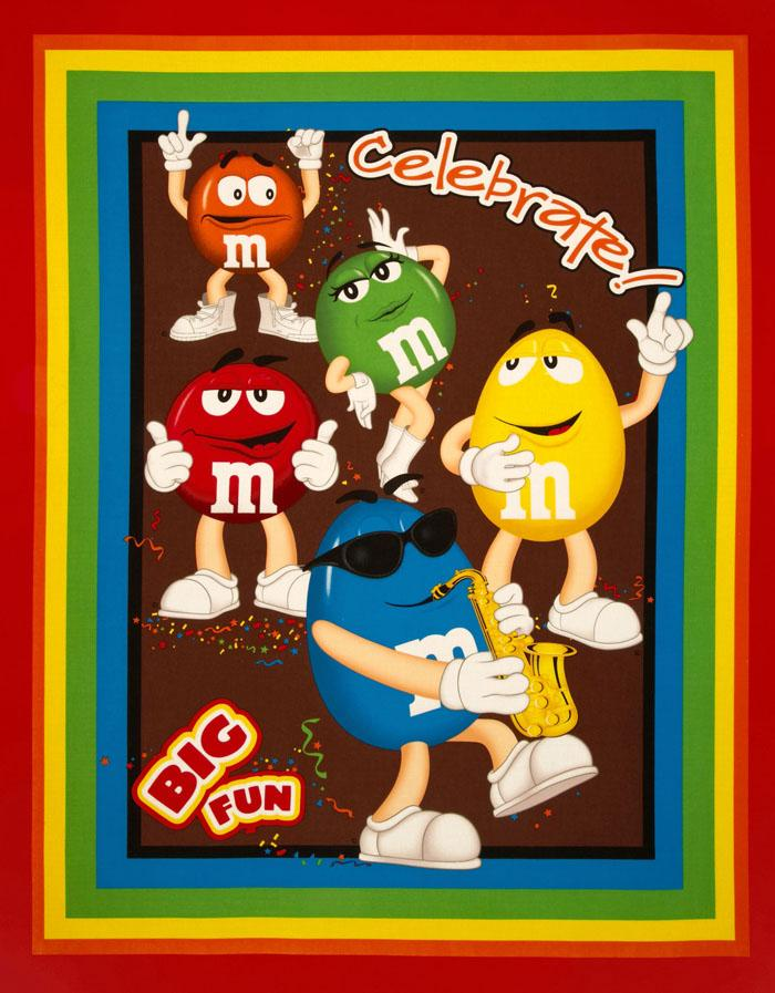 M & M Big Fun Wallhanging Panel Red