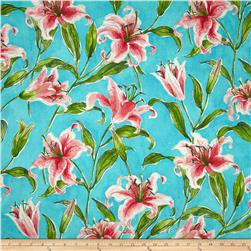 Waverly Monet's Lily Turquoise Fabric