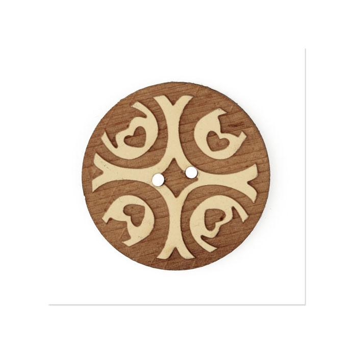 Organic Elements Wood Button1 1/4'' Beige