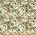 The Cardinal Rule Holly & Pinecones Pale Green