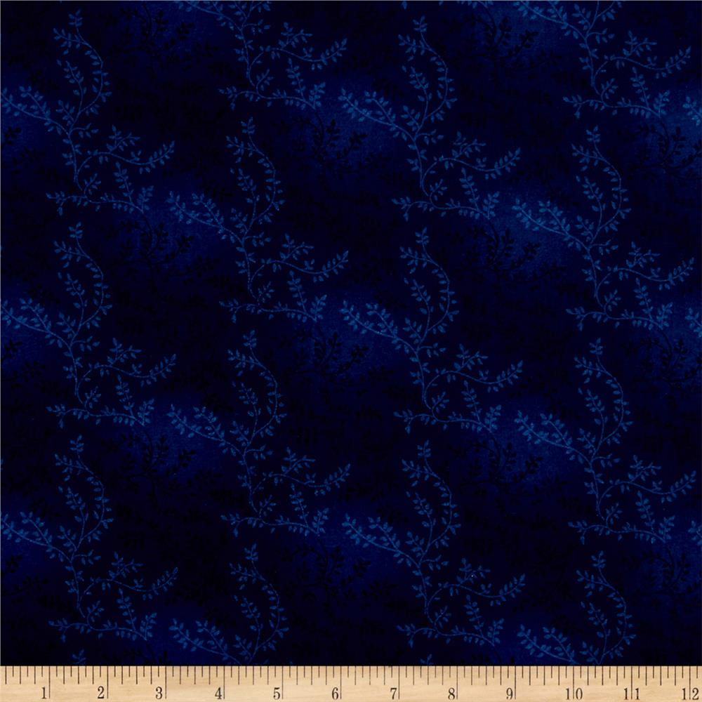 "108"" Wide Quilt Back Tonal Vineyard Navy"