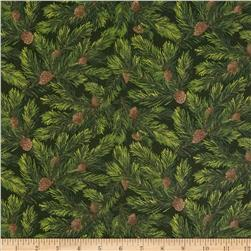 Moda Rejoice Pine Boughs Holly