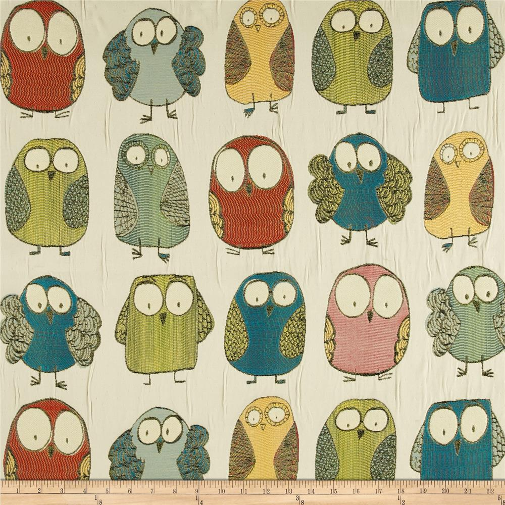 Swavelle Mill Creek Give A Hoot Jacquard Caribbean Discount