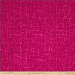 Colorama Batiks Wavy Plaid Dark Berry