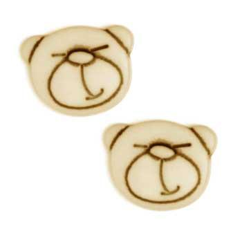 Novelty Button 1/2'' Bearly Tan