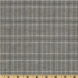 Yarn Dyed Plaid Sparkle Suiting Grey/Black
