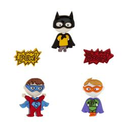 Dress It Up Embellishment Buttons  Be My Superhero