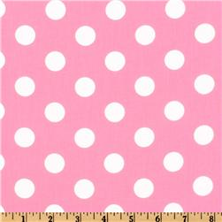 Forever Large Polka Dot Pink Fabric