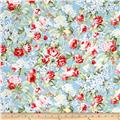 Simply Chic Rose Garden Sky Blue