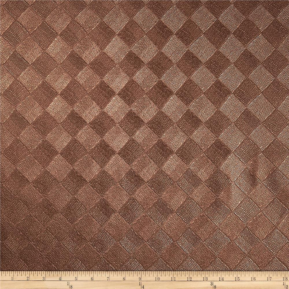 Richloom Faux Leather Diamonds  Zeller Bronze