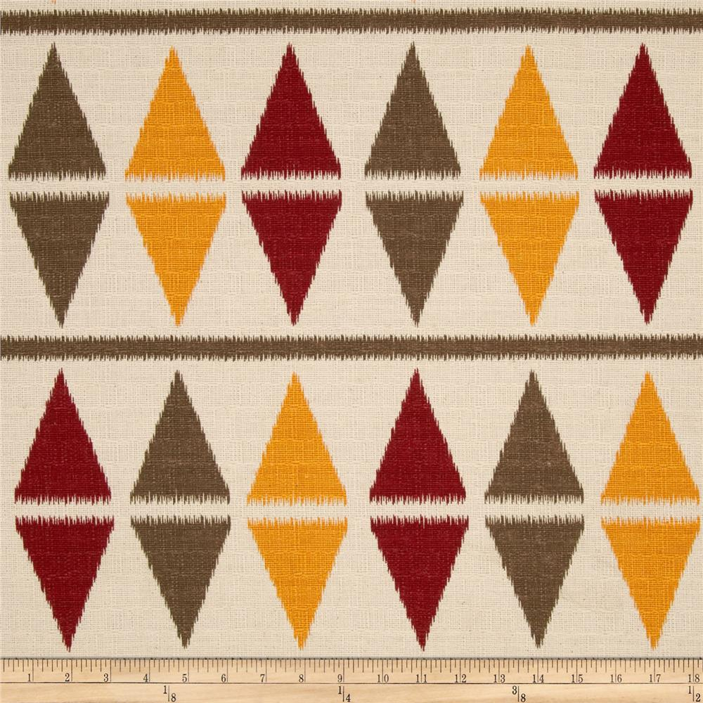 Premier Prints Ikat Argyle Natchez Red/Birch