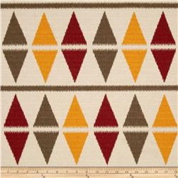 Premier Prints Ikat Argyle Natchez Red/Birch Fabric