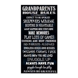 "Timeless Treasures 23.5"" Grandparents Rules Panel Black"