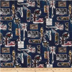 Cosmo Vintage Cotton Linen Blend Navy