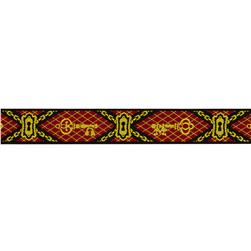 7/8'' Jacquard Ribbon Keys Red/Gold