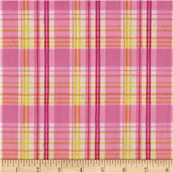 Minky Candy Plaid Pink/Yellow