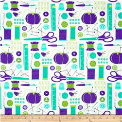 Moda Sewing Box Notions Purple/Teal