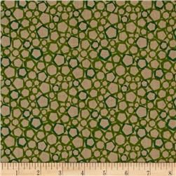 Graphix 3 Allover Hexagons Green