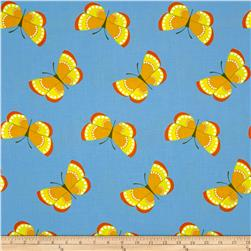 Jane Sassaman Cool Breeze Butterflies Yellow