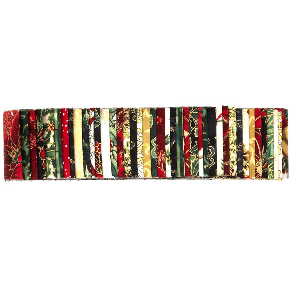 Bali Pops Jingle 2.5- Inch Strips Mistletoe/Gold