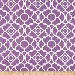 Waverly Lovely Lattice Sateen Violet Fabric