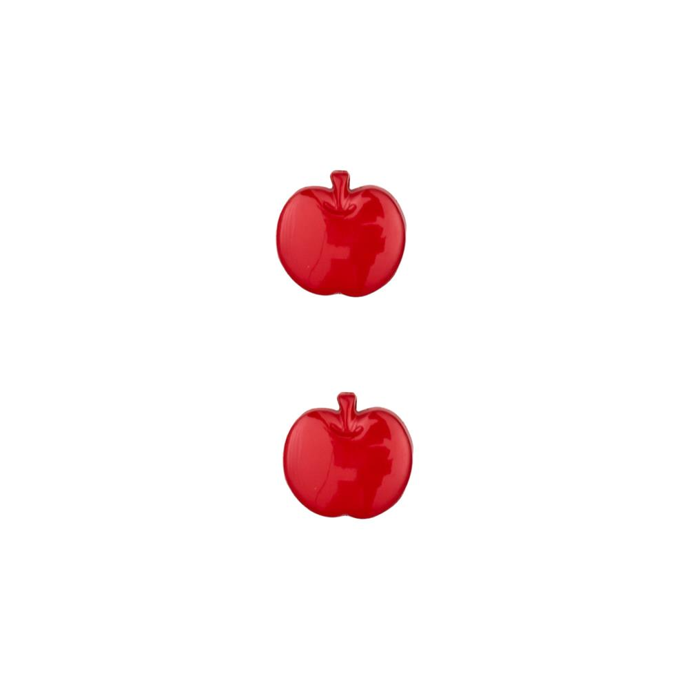 Dill Novelty Button 5/8'' Apple Red