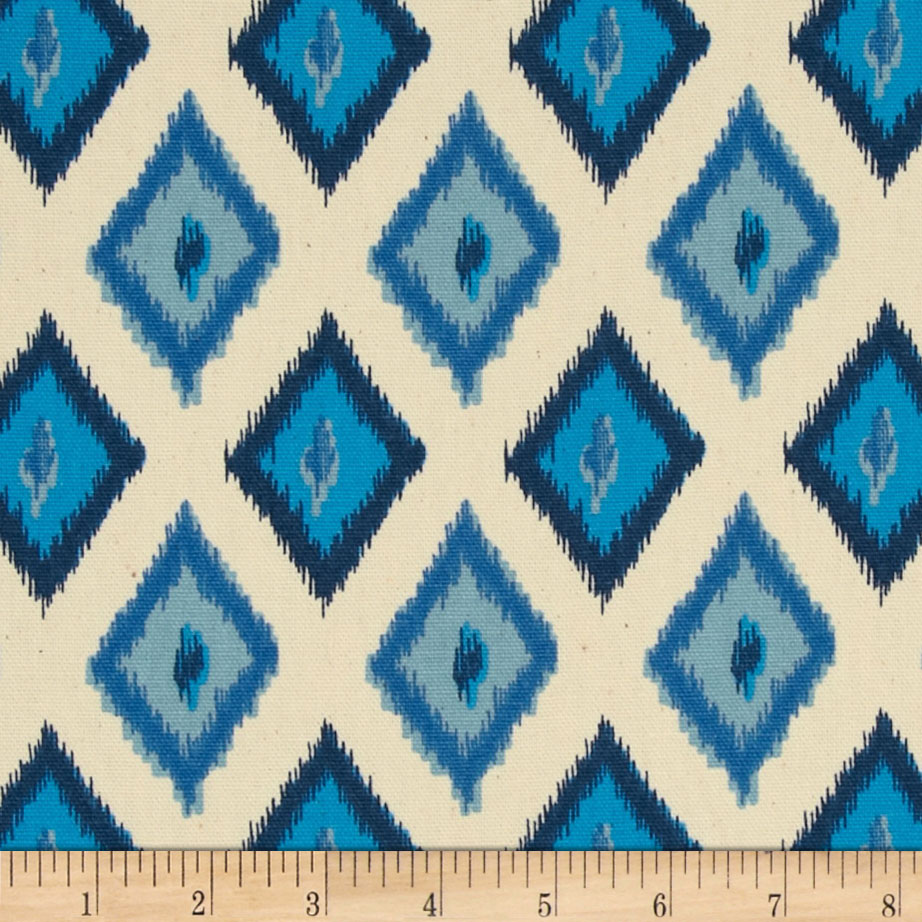 Premier Prints Carnival Arctic Blue/Natural Fabric