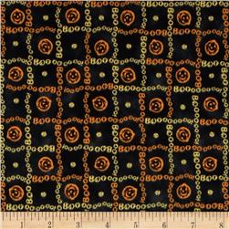 Charmed Pumpkin/Boo Plaid Black