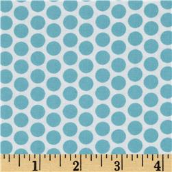 Riley Blake Honeycomb Reversed Dot White/Aqua Fabric