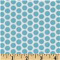 Riley Blake Honeycomb Reversed Dot White/Aqua