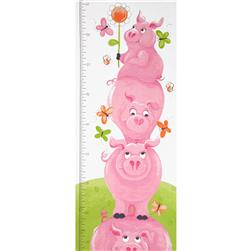 Flip the Pig Panel Growth Chart Pig Pink