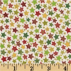 Christmas 2014 Metallic Coordinates Stars Cream