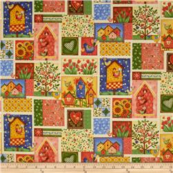 Bird Song Patchwork Multi