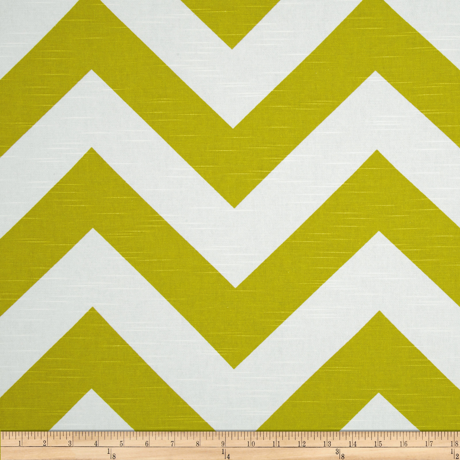 Premier Prints Zippy Chevron Slub Artist Green