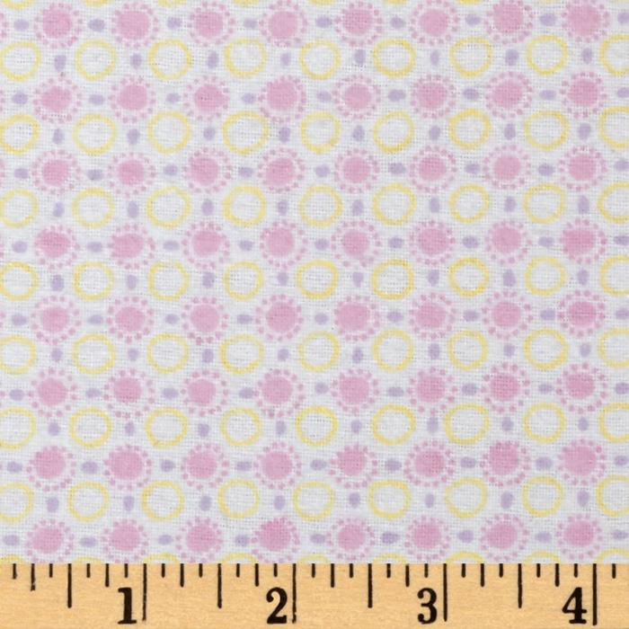 Play Day Flannel Sunny Dots Pink
