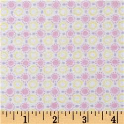 Play Day Flannel Sunny Dots Pink Fabric