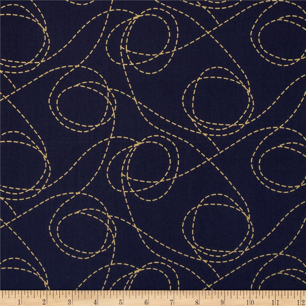 Heavy Metal Metallic Twisted Sister Navy/Gold