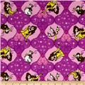 Disney Beauty and the Beast Flannel Belle Badge Purple