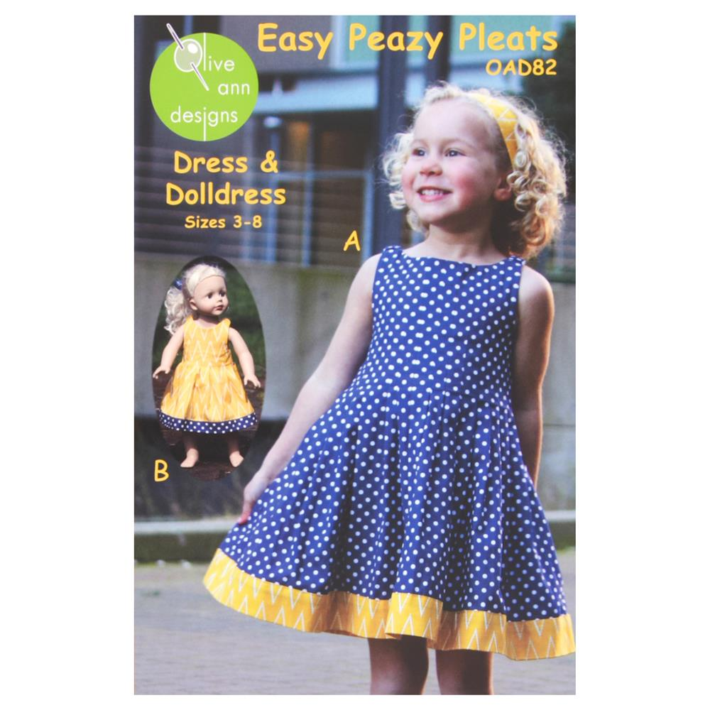 Olive Ann Designs Easy Peazy Pleats Dress &