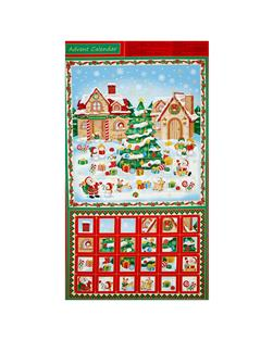 Christmas Village Advent Calendar 24 In. Panel