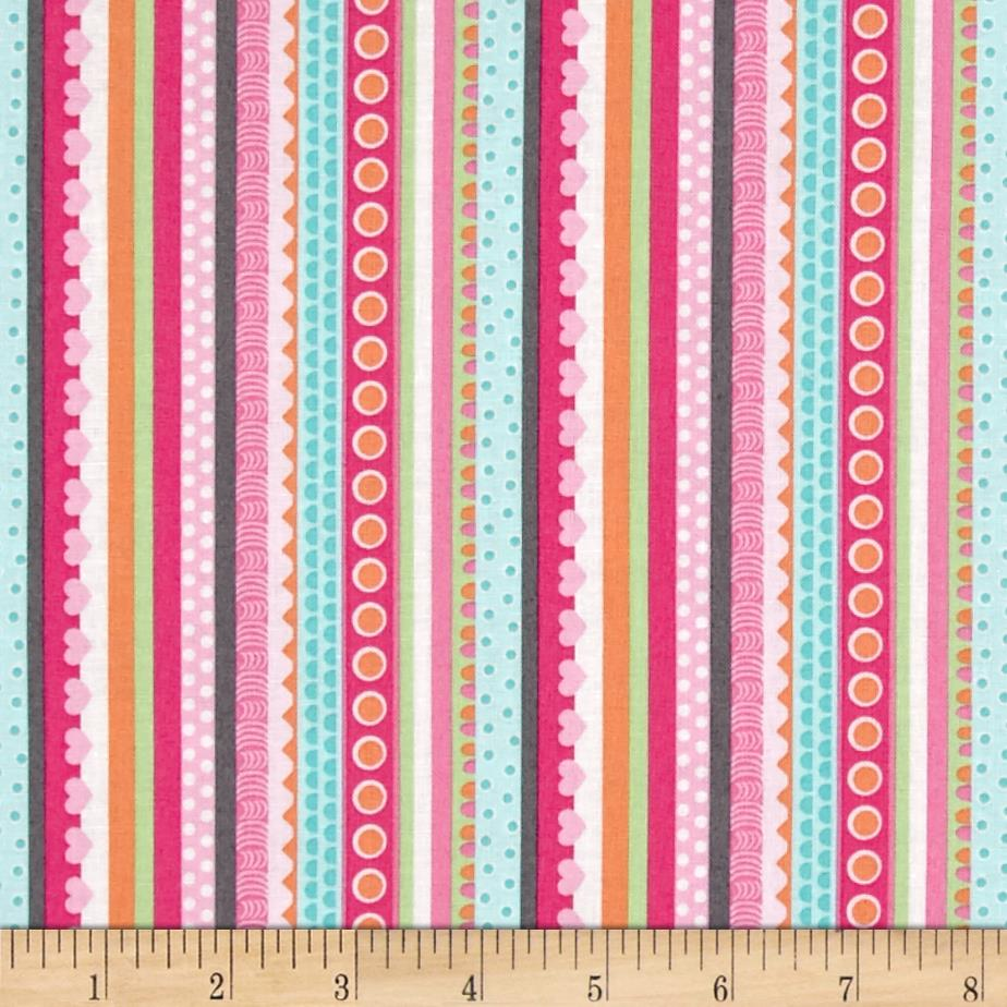 Girly-o-Saurus Dino Stripe Multi