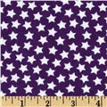 Flannel Stars Deep Purple