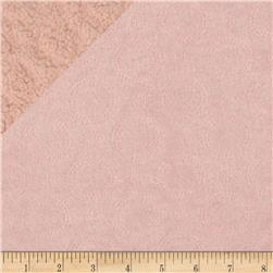 Minky Quilted Crop Circles Light Pink