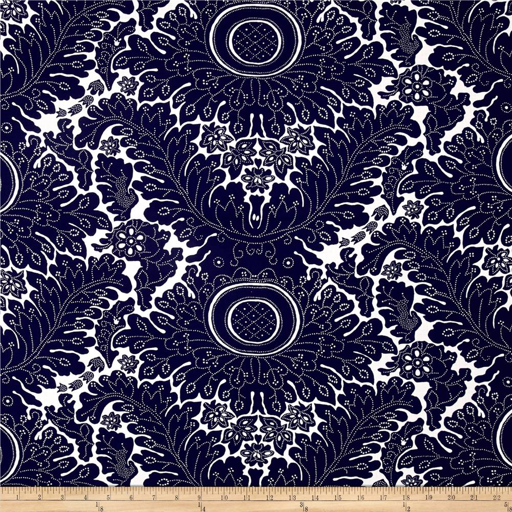 Windham Low Country Indigo Large Floral Navy
