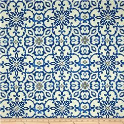 HGTV HOME Souvenier Scroll Slub Azure Fabric